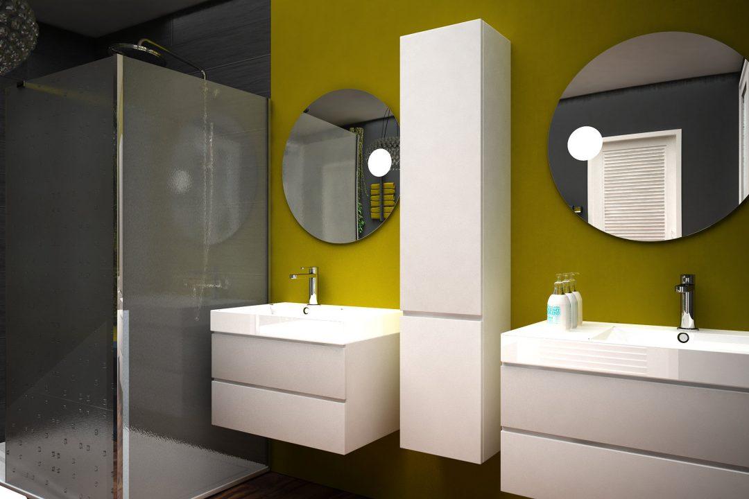 Salle de bains dans villa contemporaine à Villeneuve-Les-Avignon