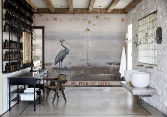 Du papier-peint dans la salle de bains