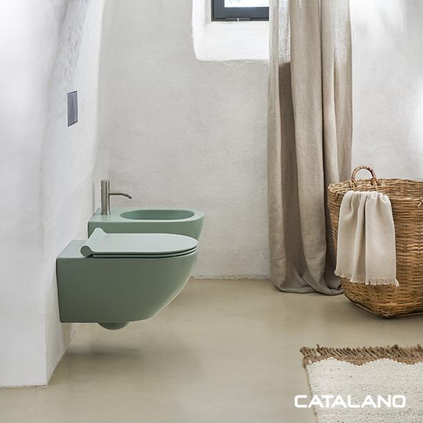 Collection sanitaires colorés en céramique pour la salle de bains