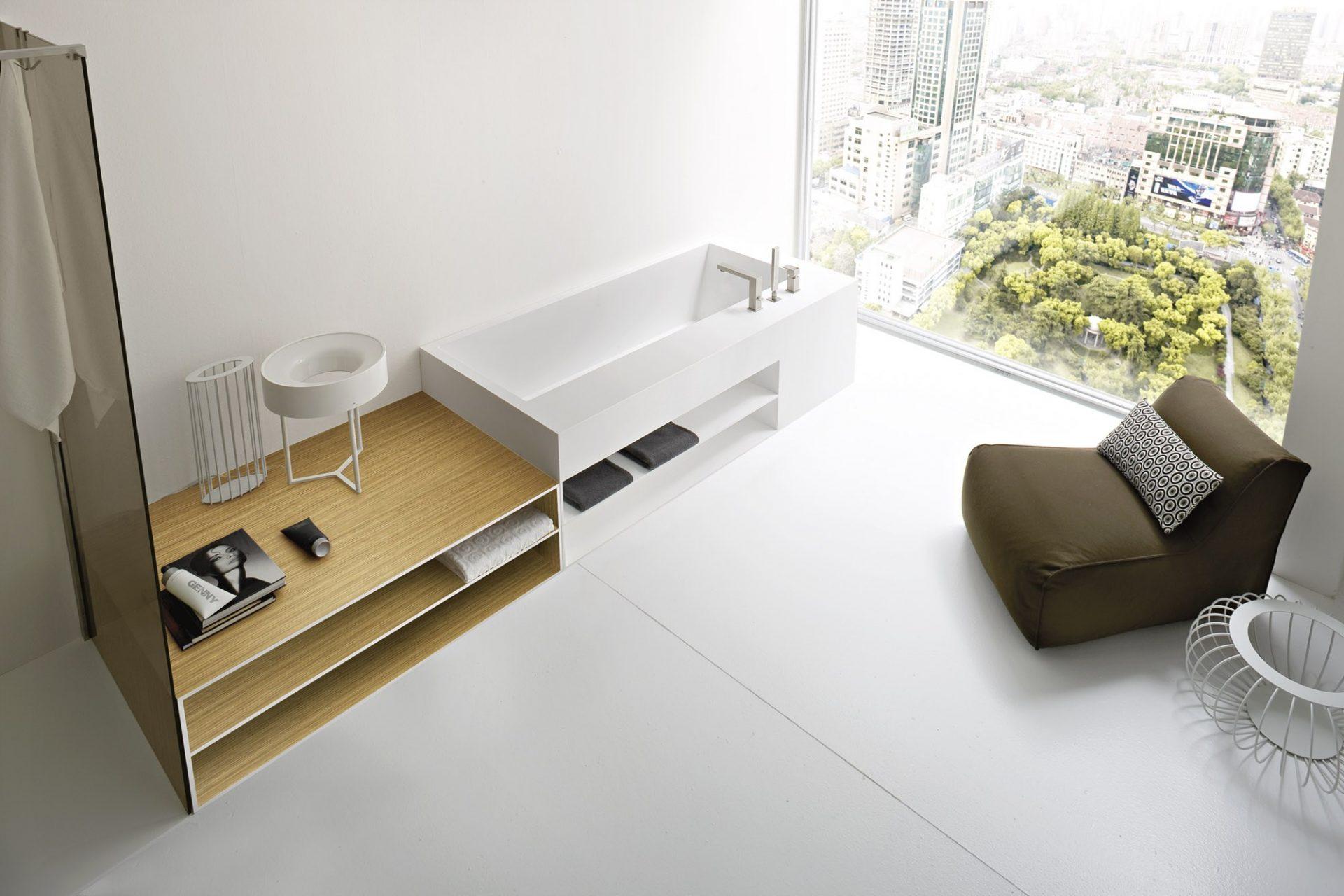 Meuble de salle de bain contemporain_Rexa Design