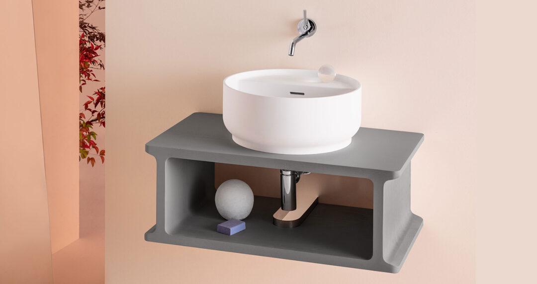Vasque à poser Beam de chez Zucchetti sur plan