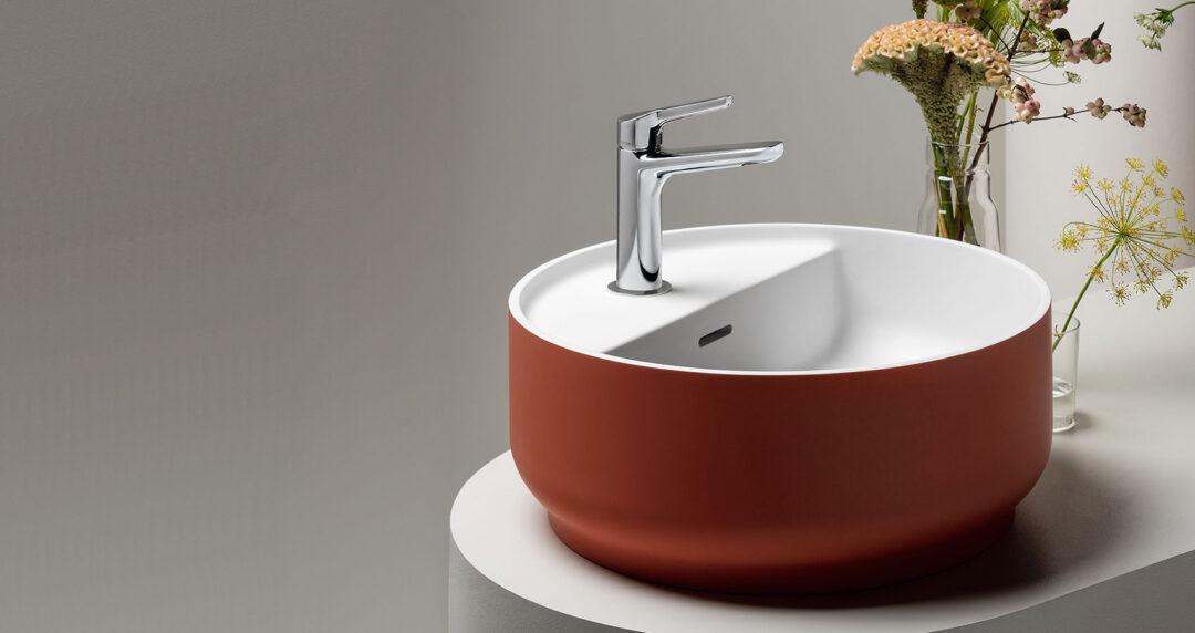 Vasque à poser terracotta_collection beam chez Zucchetti