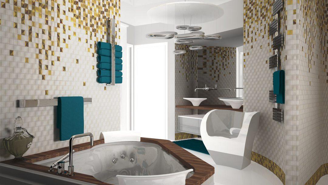 Salle de bains parentale avec jacuzzi