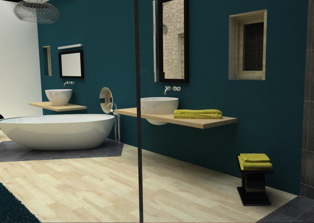 Création d'une salle de bains parentale
