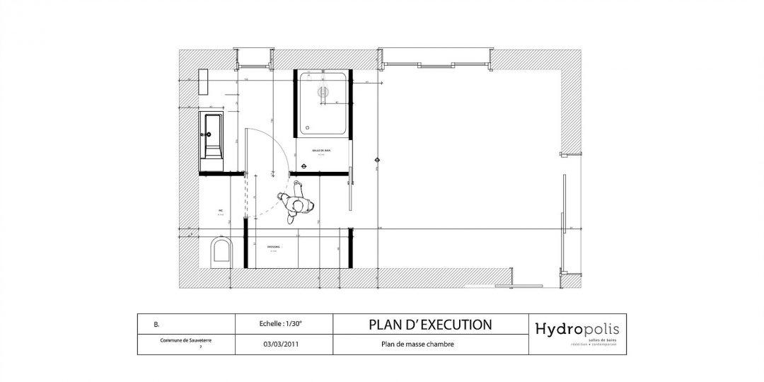 Salle de bains - Plan d'exécution