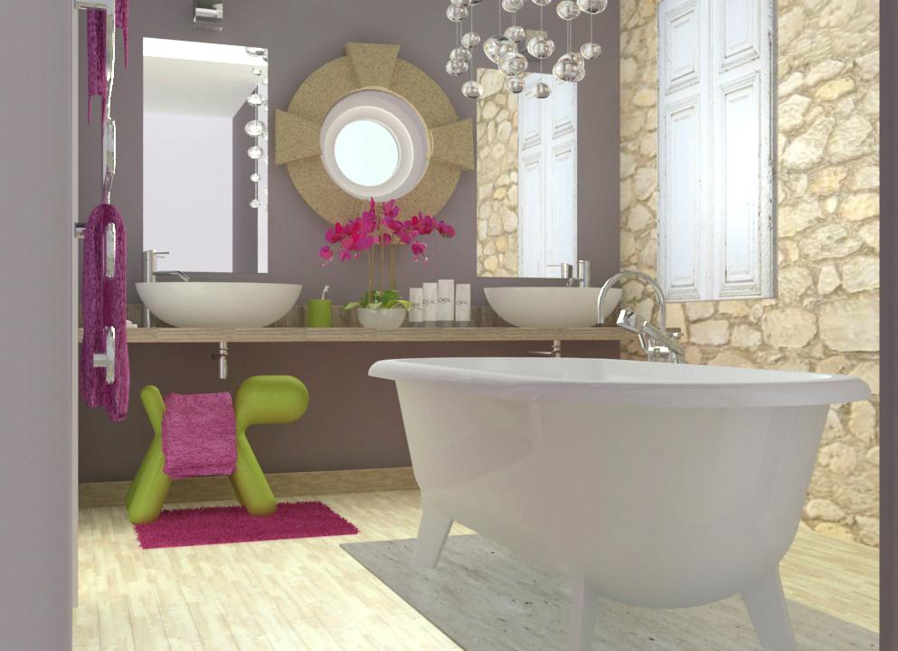 Création d'une salle de bains enfant