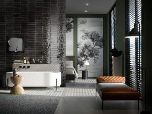 Tendances salles de bains : noir et blanc