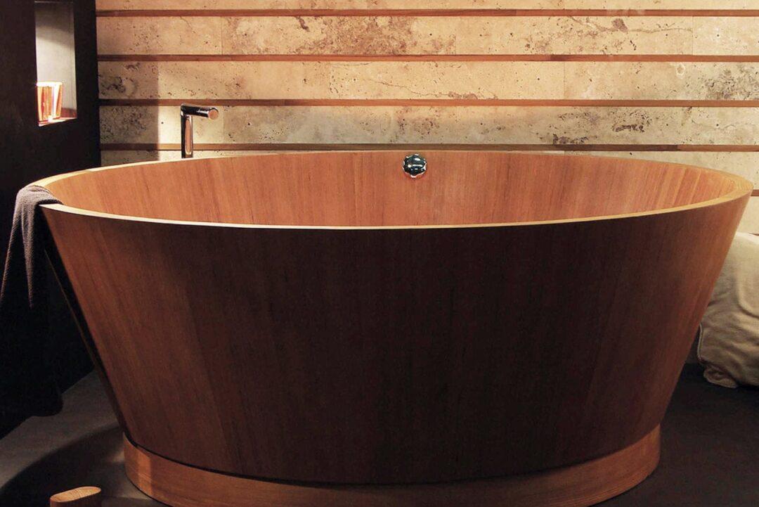 Boxart-baignoire en bois