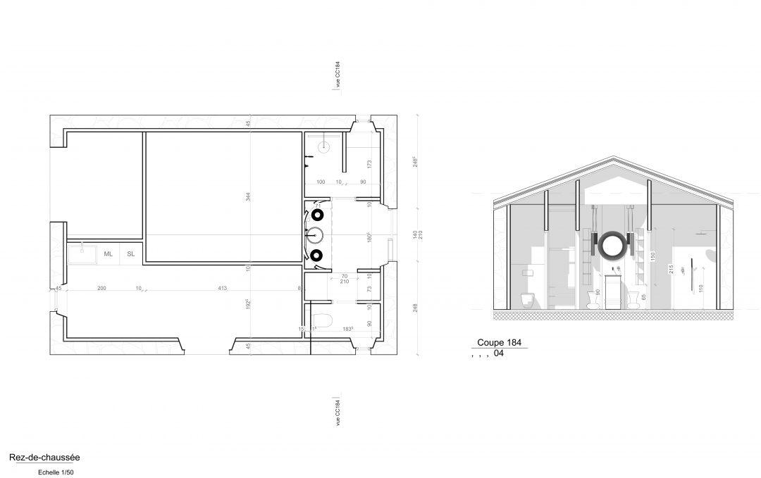 Plan Poolhouse