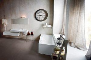 Meuble de salles de bains suspendus en corian_Rexa