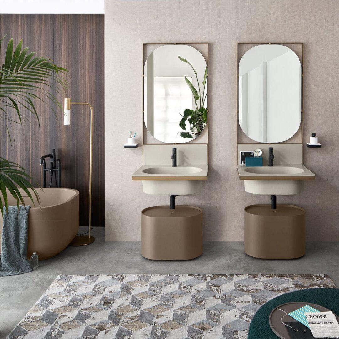 Meuble de salle de bains avec rangement_Cielo