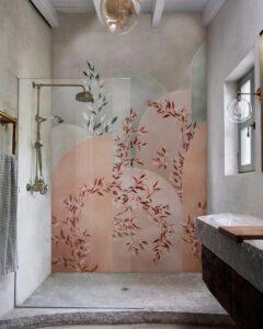 Du papier peint dans la salle de bains_Wall&Decò