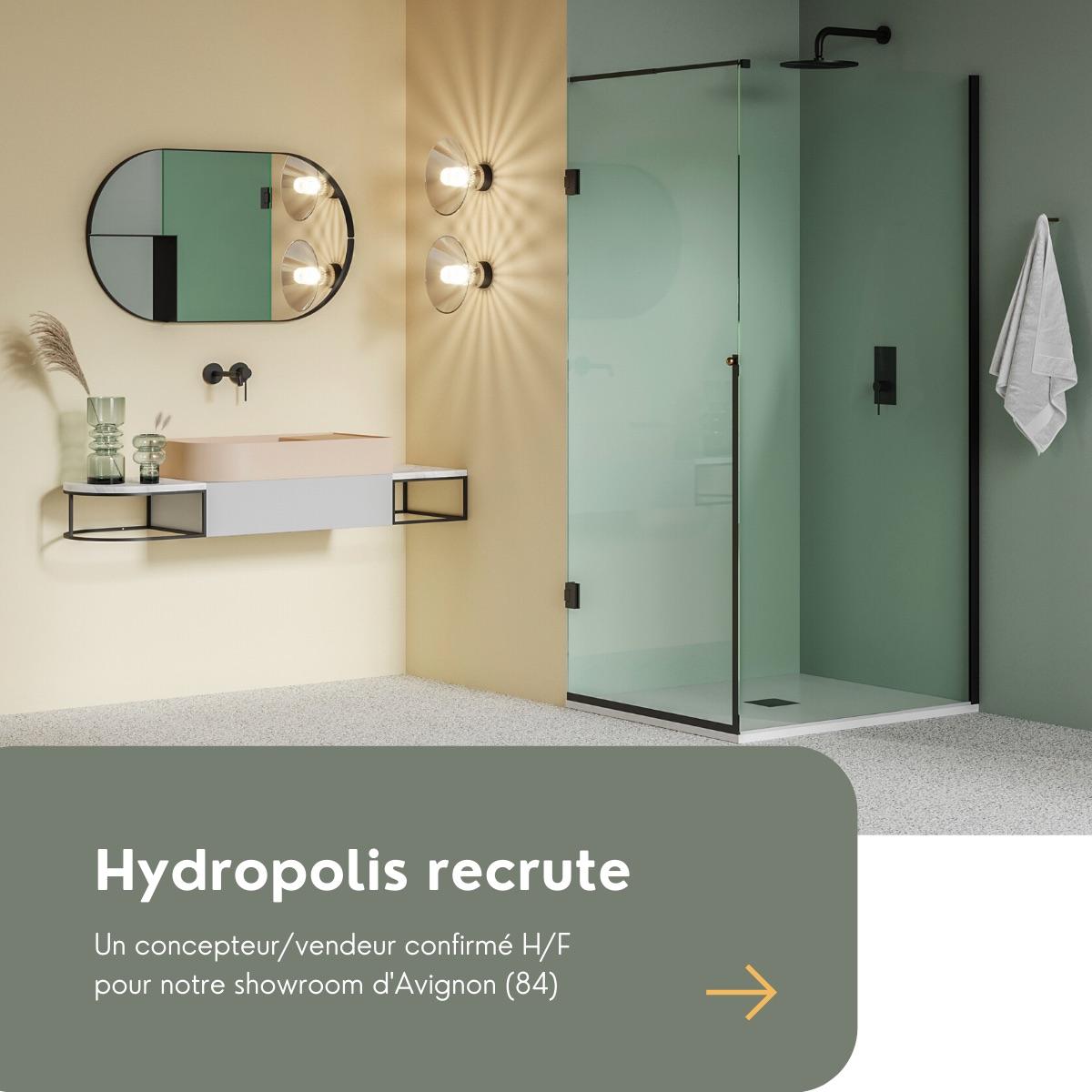 Hydropolis spécialiste de l'aménagement de salles de bains haut de gamme recrute