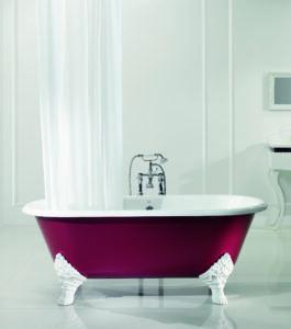 Baignoire en fonte, un style rétro dans la salle de bains
