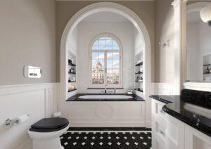 Baignoire en fonte, ambiance rétro dans la salle de bains - Devon&Devon