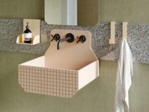 Vasque suspendue carré et colorée en Livingtec® _Ex-t Chez Hydropolis