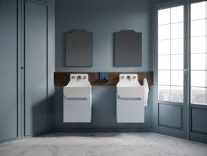 Vasque suspendue carré avec rangements en Livingtec® _Ex-t Chez Hydropolis