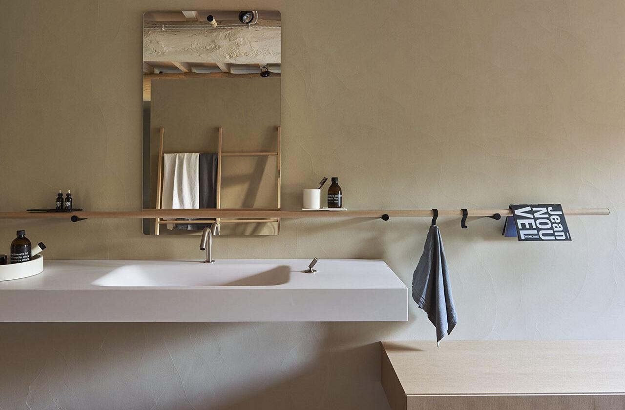 Vasque suspendue Cristalplant® avec plan intégré_Agape Chez Hydropolis