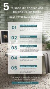 5 raisons de choisir une baignoire en fonte pour votre salle de bains - Hydropolis