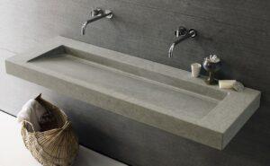 Vasque suspendue en pierre_Neutra chez Hydropolis