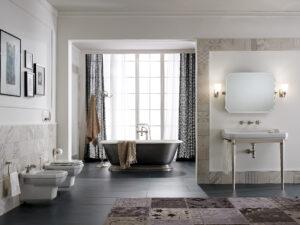 Baignoire en fonte, ambiance rétro dans la salle de bains - Sbordoni