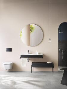 Bien aménager une petite salle de bains_rangement suspendu