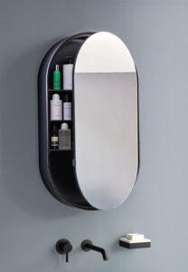 Aménager une petite salle de bains_miroir avec rangement_Hydropolis