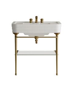 Une salle de bains rétro : nouvelle console Nobel Devon&Devon